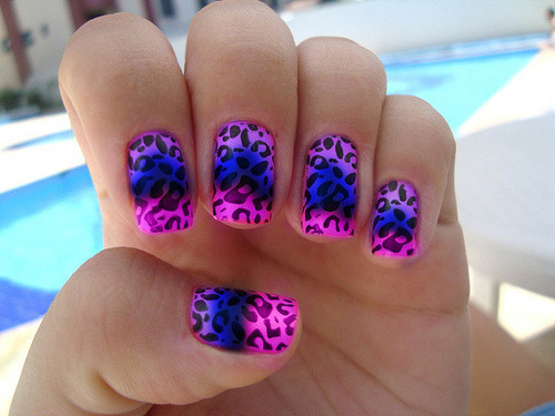 cute, leopard, manchas, nail art, nails