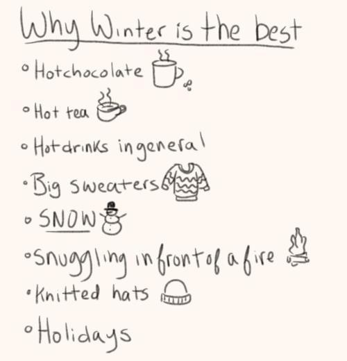 cute, list, why winter is the best, winter - image #304699 on Favim.com