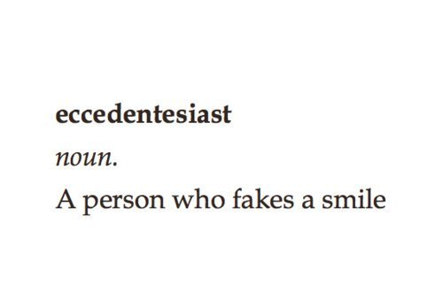 definition, eccedentesiast, fake smile, fake smiling, noun