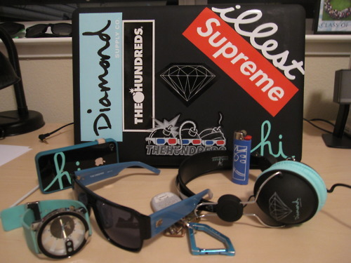 diamond, dope, illest, obey, supreme