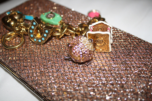 diamonds, fashion, glitter, iphone, juicy couture