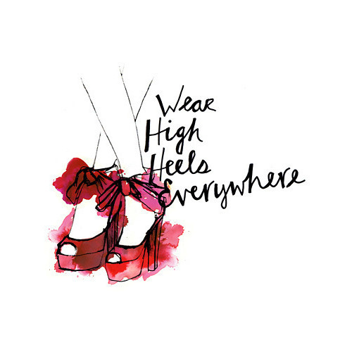 drawing, fashion, high heels, high heels everywhere, illustration, red, shoe, shoes
