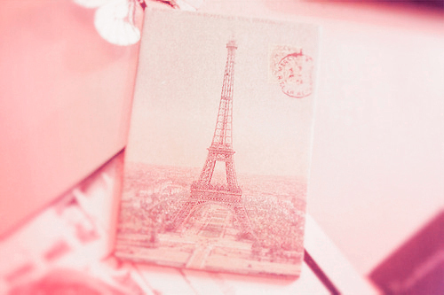 dreamy, eiffel tower, notebook, paris, pastel, pink, sweet