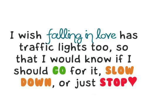 Quotes About Love Funny : falling in love, love, quote, slow, stop image #306091 on Favim.com