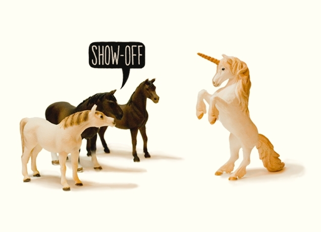 fantasy, funny, horses, show-off, threadless