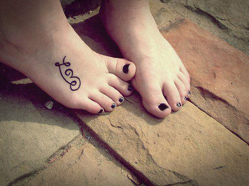 feet, foot, love, tattoo