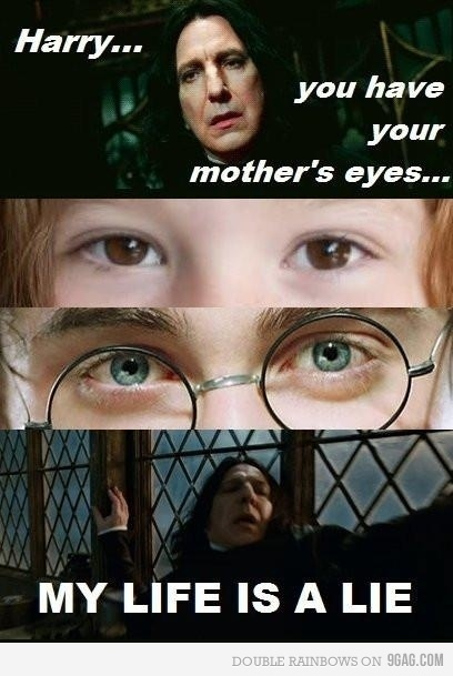 film, funny, harry potter, life, lilian potter, lol, love, potter, snape, true