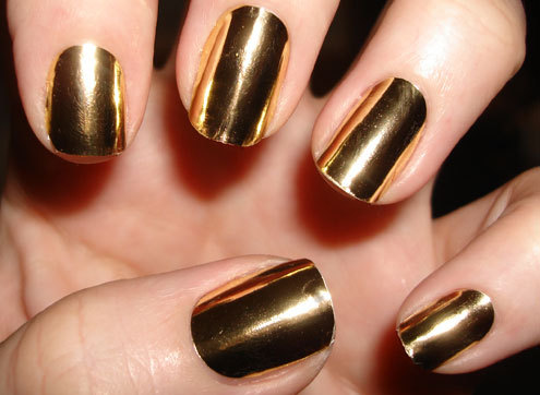 finger nails, gold, nail polish