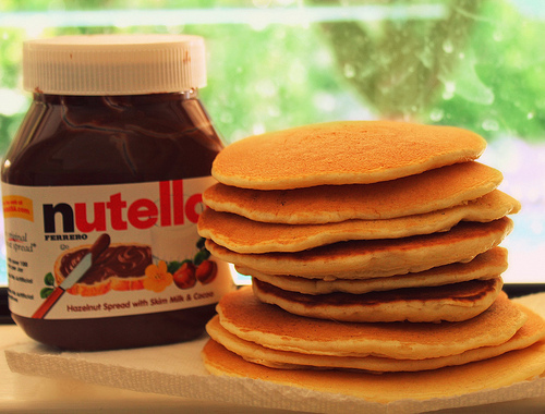 food, nutella, pancakes, yummy, yummy food nutella - image #305950 on ...