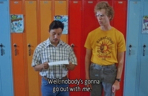 napoleon dynamite essay Napoleon dynamite napoleon dynamite is a movie that really has no definite plot climax or resolution it centralizes around a very interesting high school kid named napoleon dynamite and his experiences with his.