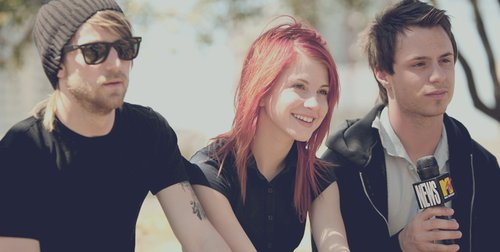 hayley williams, jeremy davis, josh farro, paramore