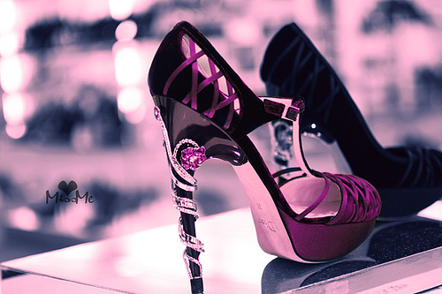 high heels, pink, pretty, purple, shoes, sparkly