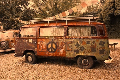 hippie, hippie van, love, peace