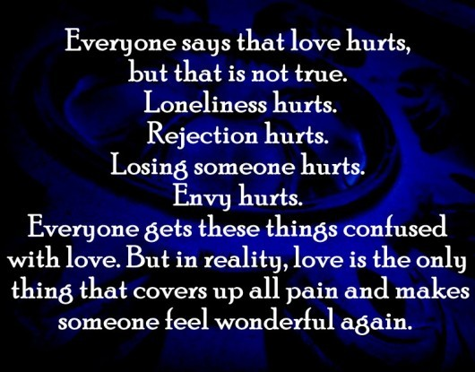 quotes on love hurts