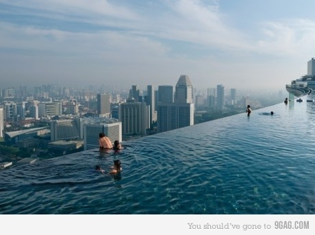 infinity pool, omg, perfect, pool, pool building, singapore, summer, summer <3, whoa
