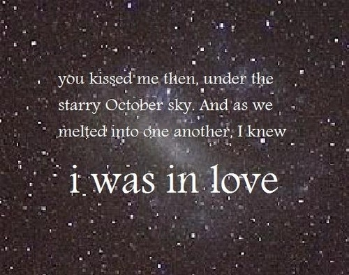 Stars And Love Quotes: Kiss, Love, October, Quote, Sky
